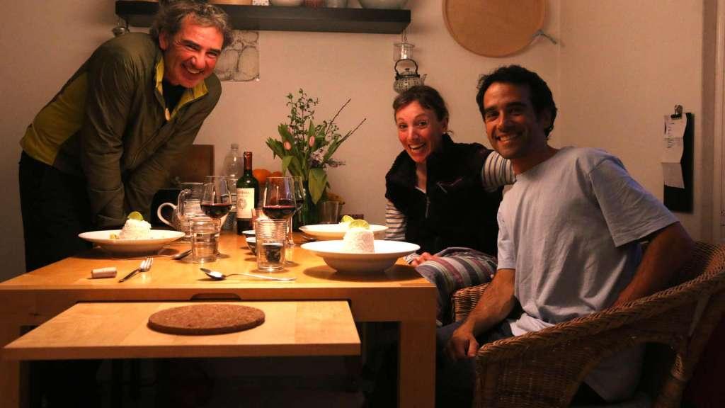 Cena con Joseba y Corine