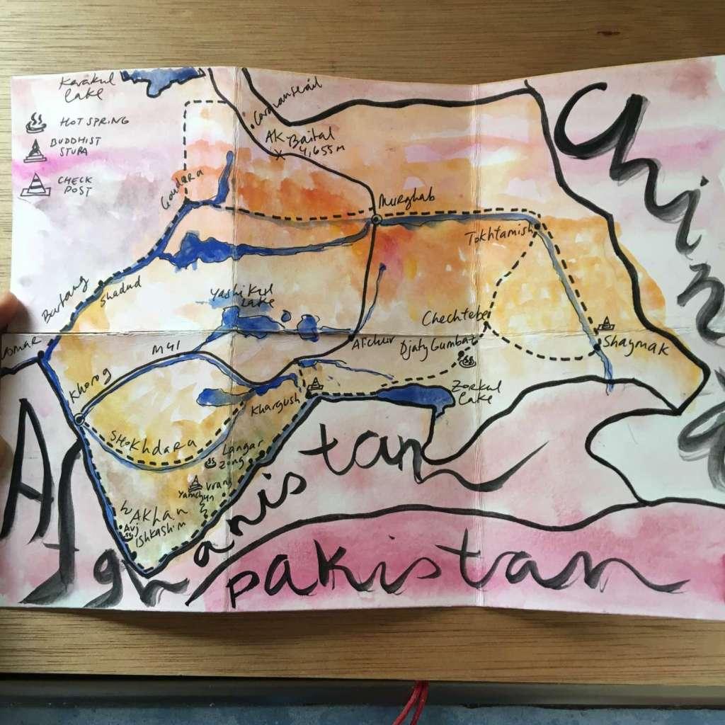 Mapa Pamir