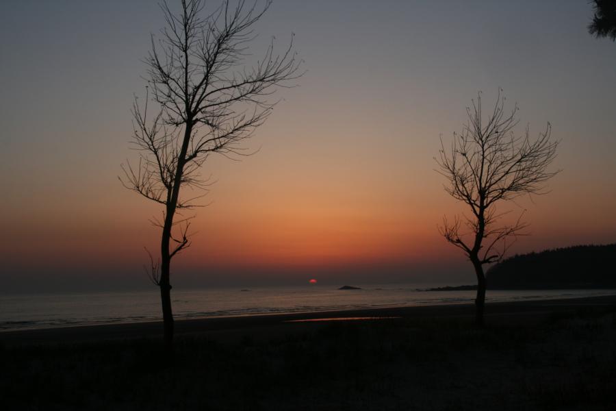 Puesta de sol en Corea del Sur