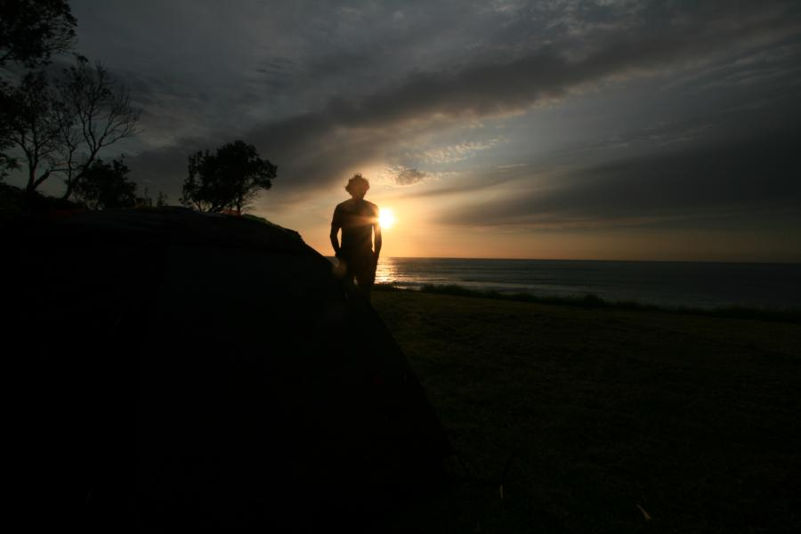 Puesta sol australia