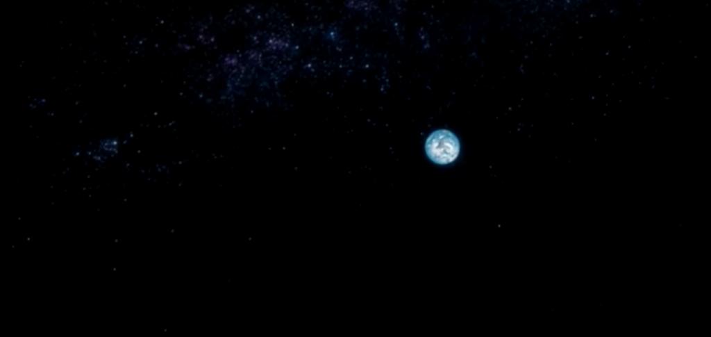 La Tierra flotando en el espacio