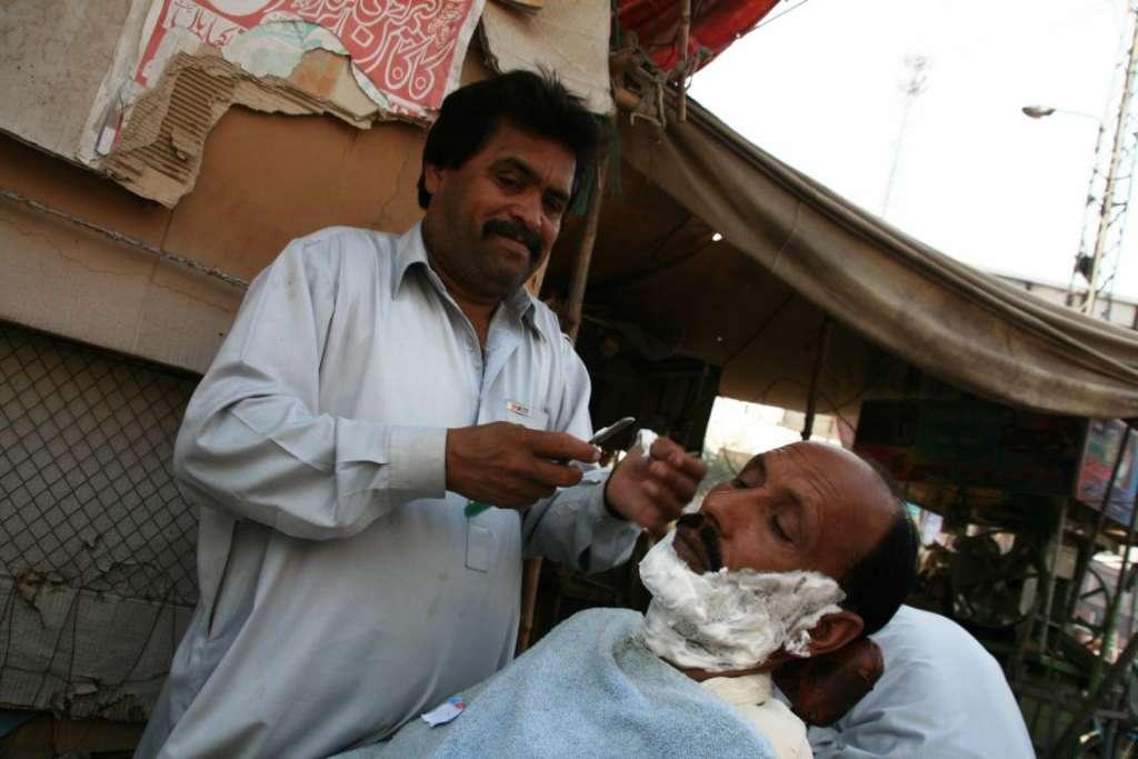 afeitada en el mercado