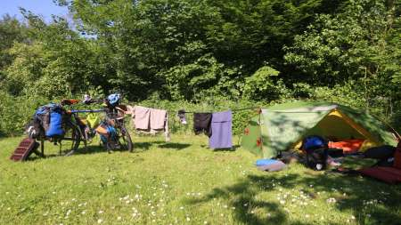 cycling and camping