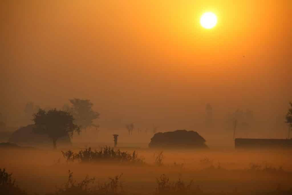 amanece en india